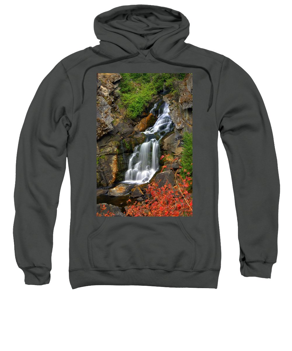 Crystal Falls Sweatshirt featuring the photograph Crystal Falls by Marty Koch