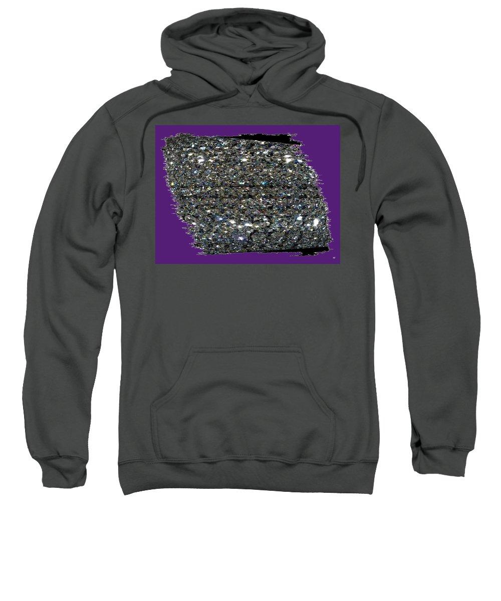 Crystal Sweatshirt featuring the digital art Crystal Light by Will Borden