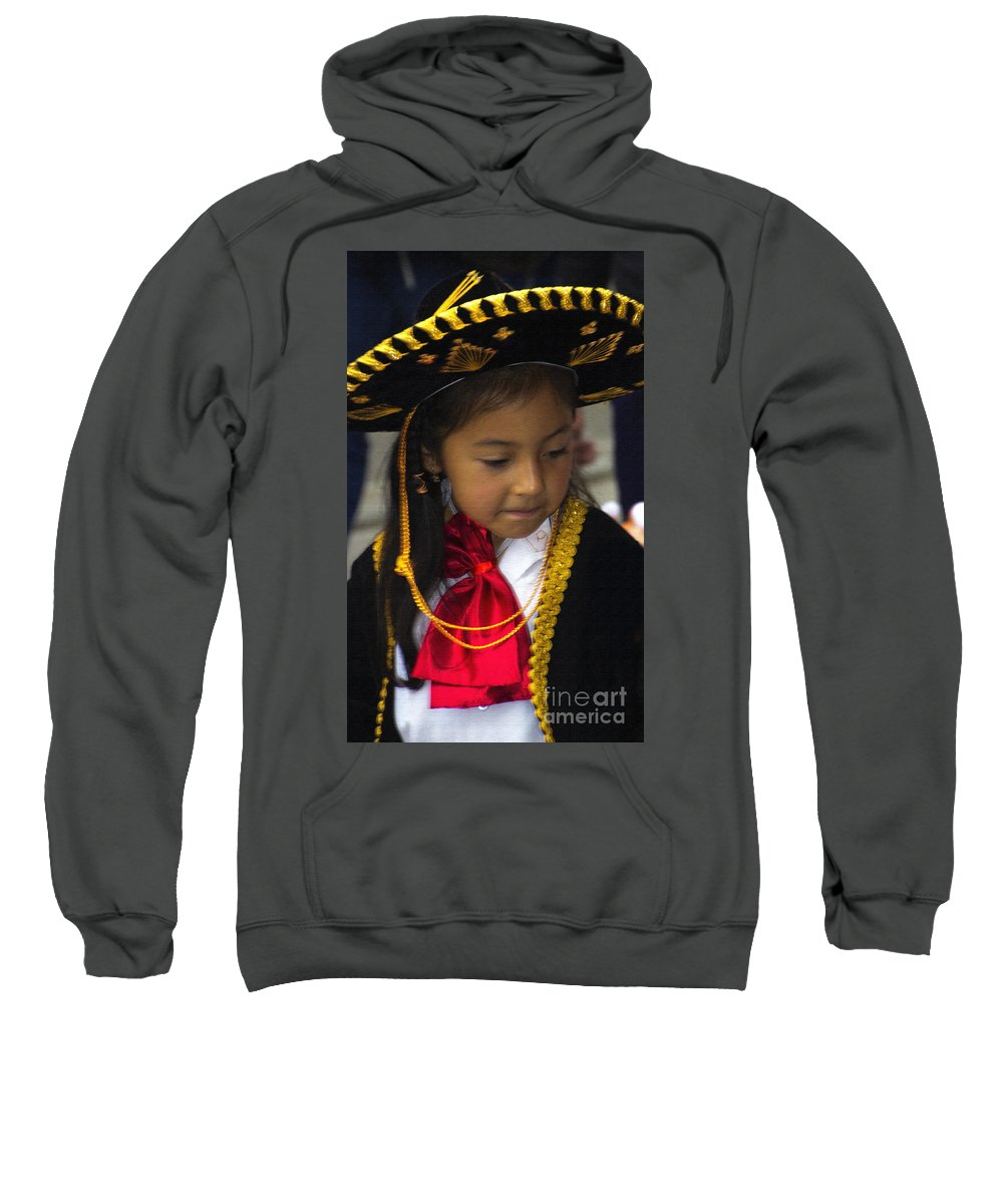 Girl Sweatshirt featuring the photograph Cuenca Kids 721 - Canvas Style by Al Bourassa