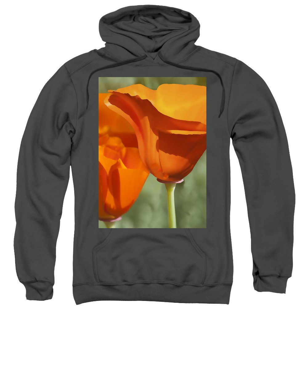 California Sweatshirt featuring the digital art Cup Of Gold by Sharon Foster