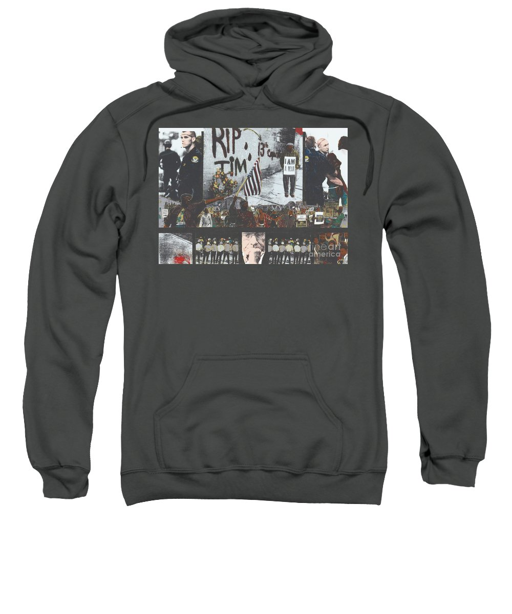 Cincinnati Sweatshirt featuring the painting Curfewed by Harris Wiltsher