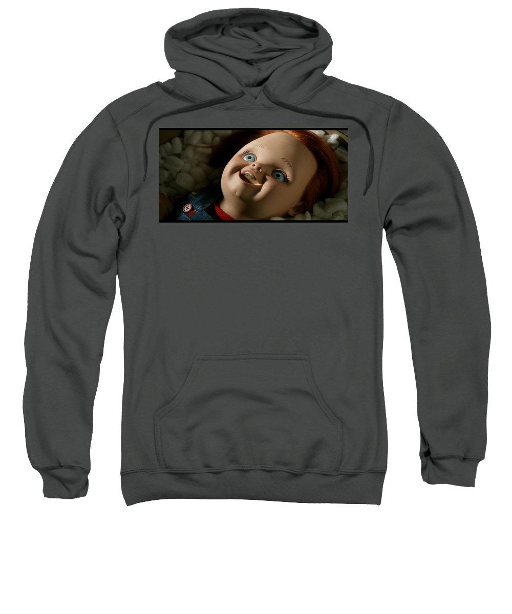 Curse Of Chucky Sweatshirt featuring the digital art Curse Of Chucky by Bert Mailer