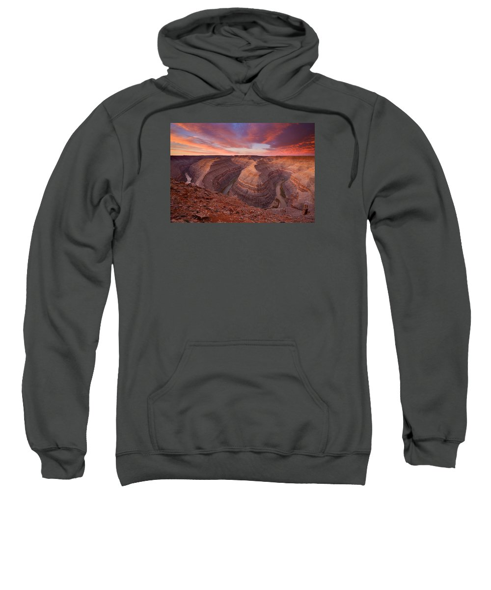 Canyon Sweatshirt featuring the photograph Curves Ahead by Mike Dawson
