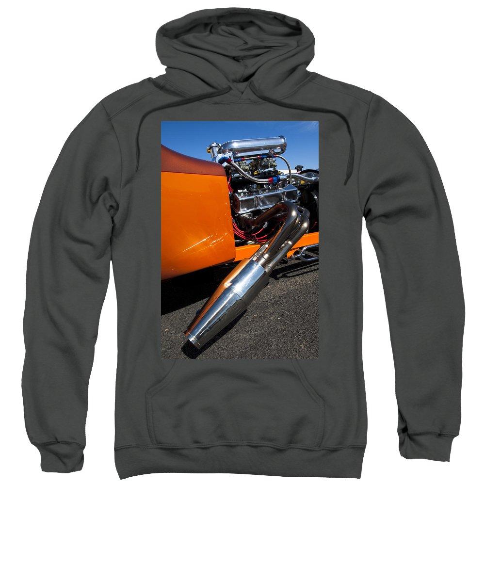 Hot Rod Sweatshirt featuring the photograph Custom Hot Rod Engine 2 by Jill Reger