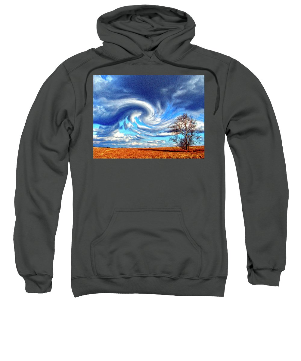 Cyclone Sweatshirt featuring the painting Cyclone by Dominic Piperata