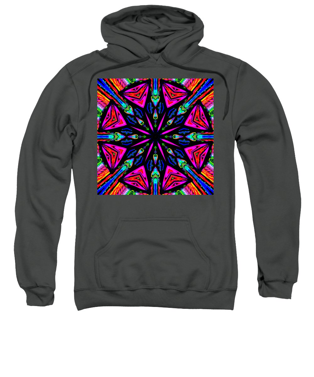 Colors Sweatshirt featuring the digital art Cyloball by Blind Ape Art