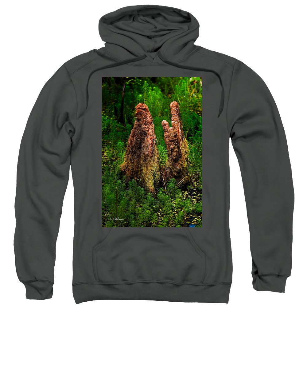 Christopher Holmes Photography Sweatshirt featuring the photograph Cypress Knees by Christopher Holmes