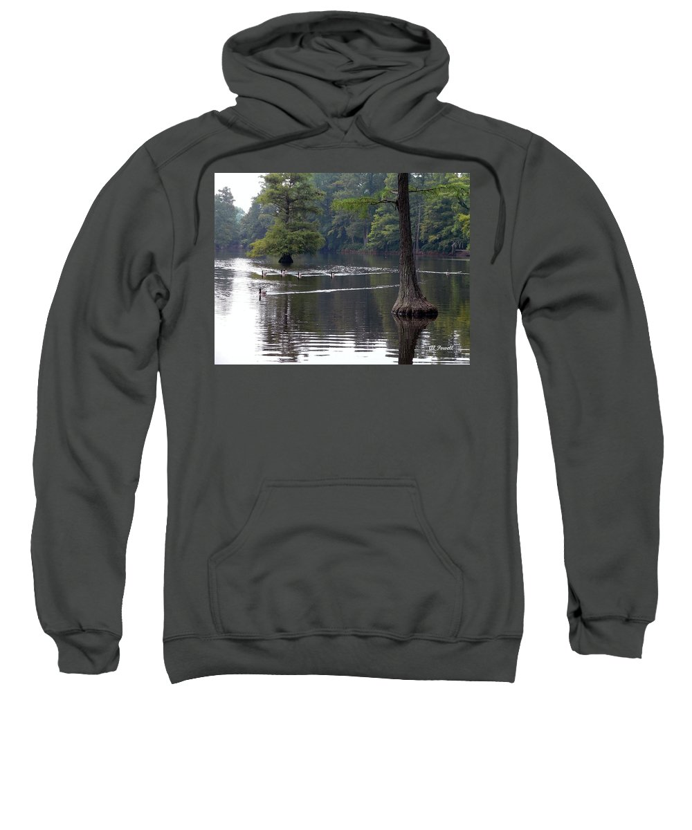 Cypress Lake Sweatshirt featuring the photograph Cypress Lake by Al Powell Photography USA