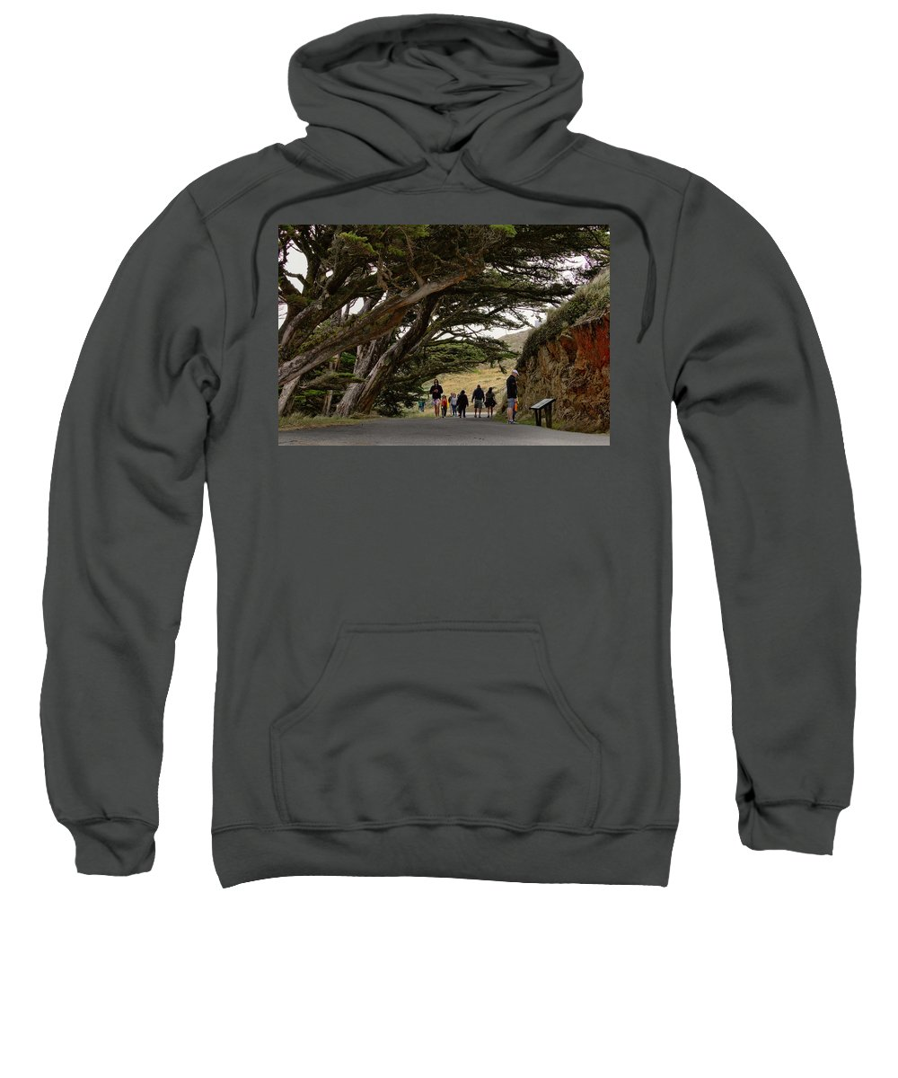 Point Reyes Lighthouse Sweatshirt featuring the photograph Cypress Tunnel by Michael Gordon