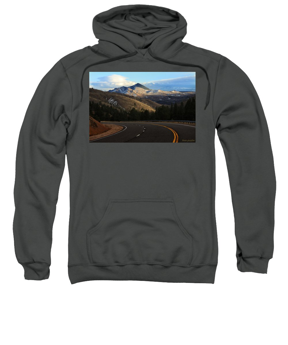 Buffalo Sweatshirt featuring the photograph Over The Rail by Brian Gustafson
