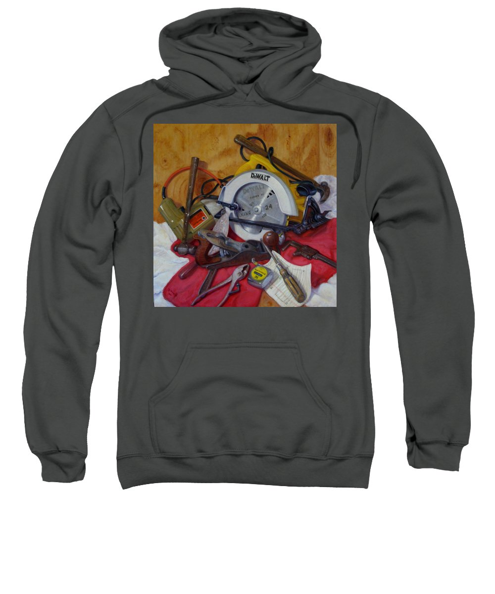 Realism Sweatshirt featuring the painting D. I. Y. 2  by Donelli DiMaria