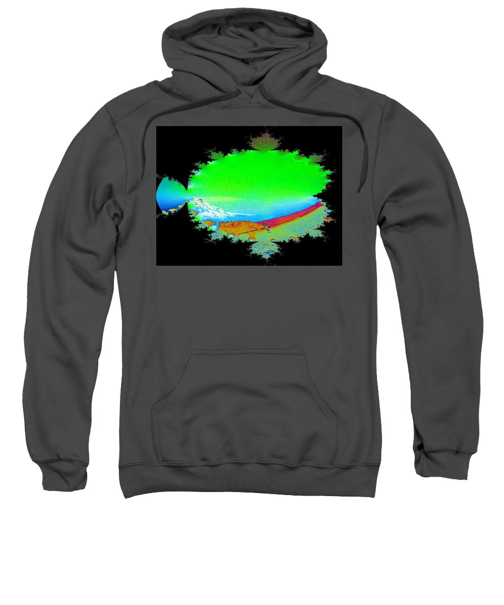 Washington Sweatshirt featuring the digital art Da Mountain Sail In Fractal by Tim Allen
