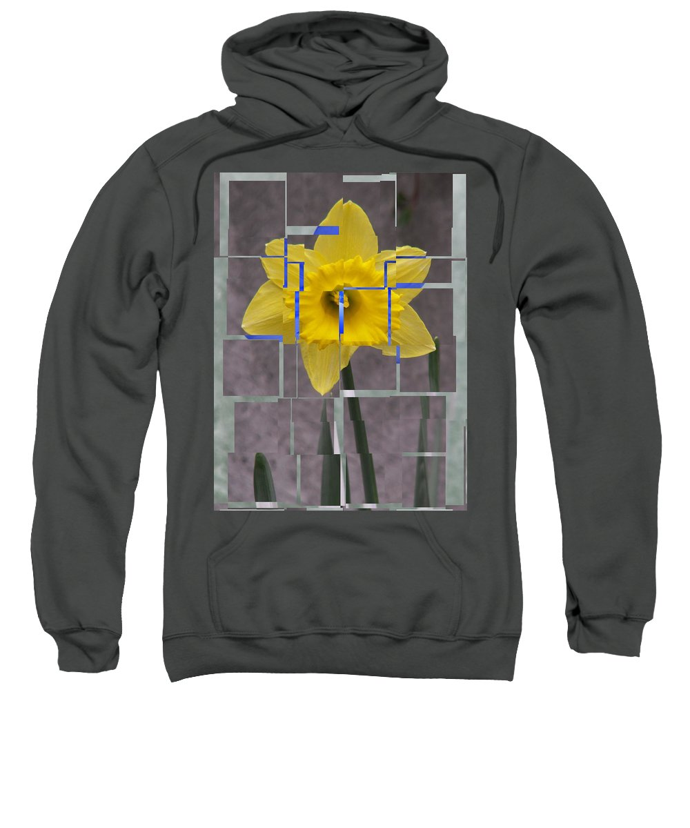 Flower Sweatshirt featuring the digital art Daffodil 1 by Tim Allen