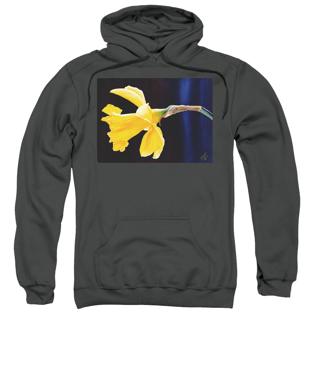 Narcissus Sweatshirt featuring the painting Daffodil by Catherine G McElroy