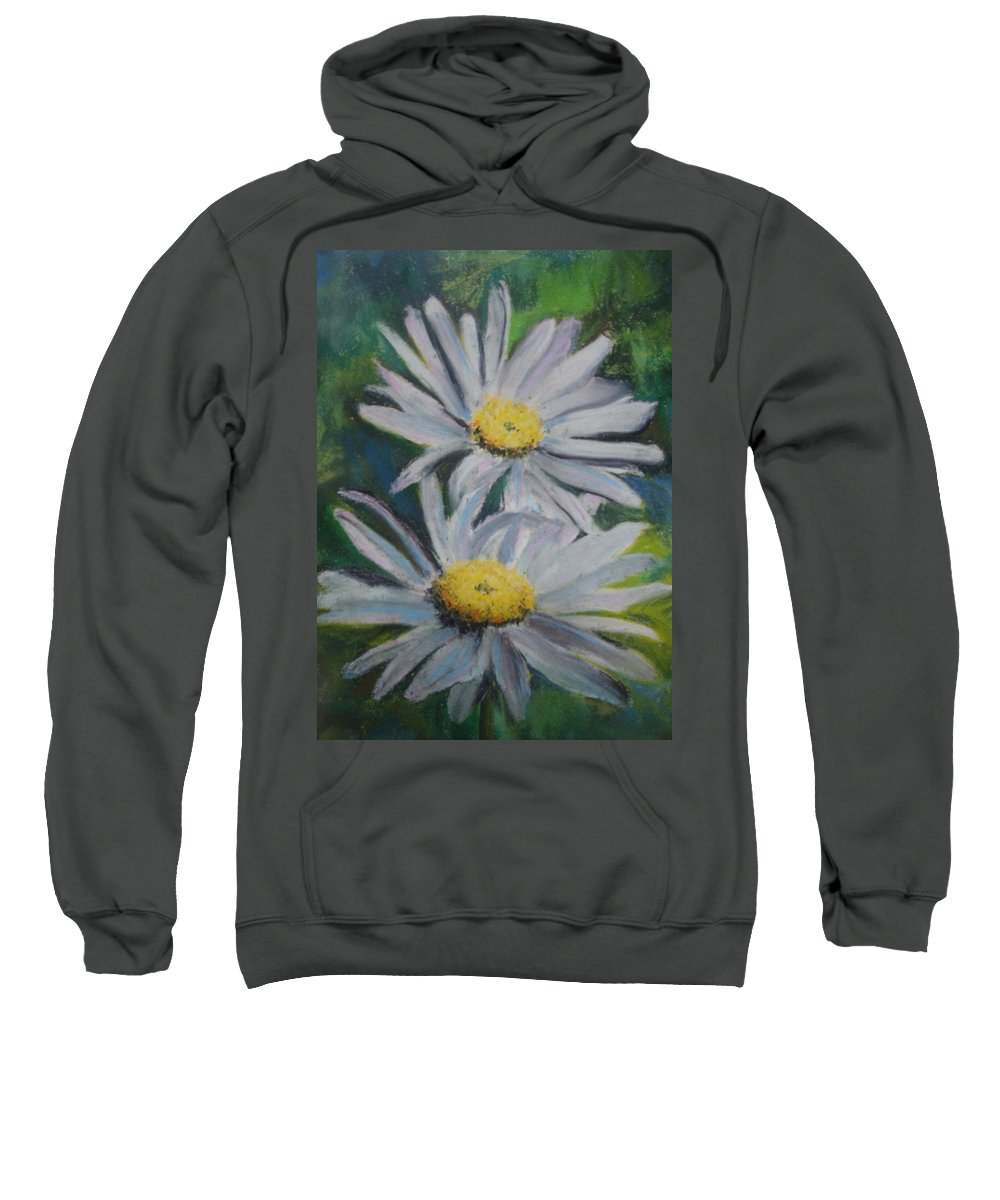Daisies Sweatshirt featuring the painting Daisies by Melinda Etzold