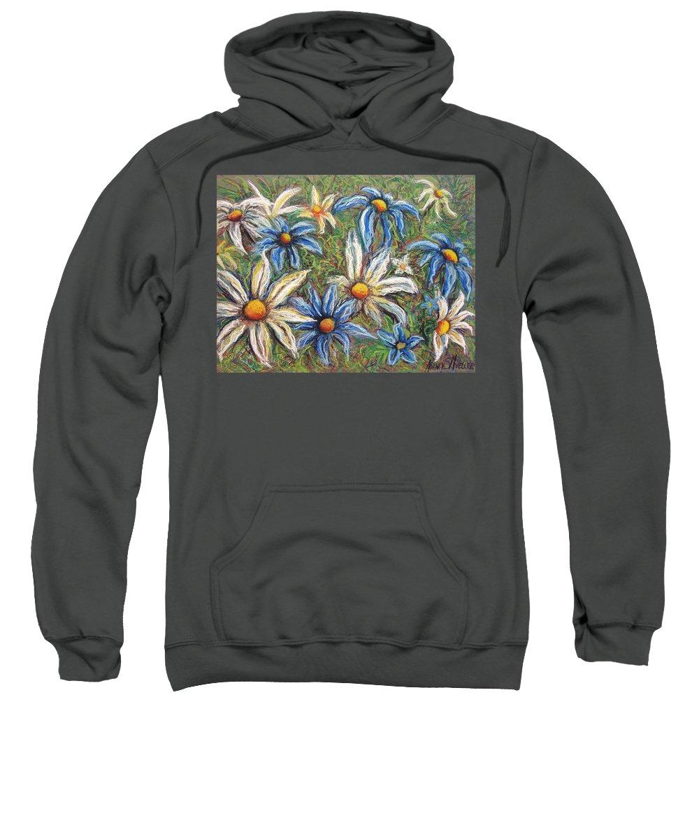Daisies Sweatshirt featuring the pastel Daisies Pastel by Nancy Mueller