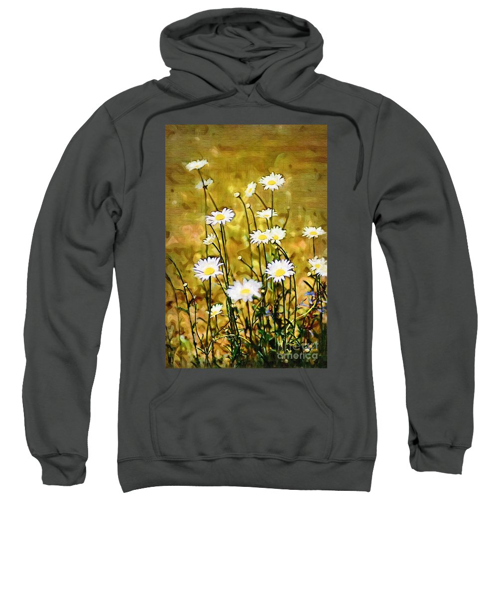 Daisy Sweatshirt featuring the photograph Daisy Field by Donna Bentley