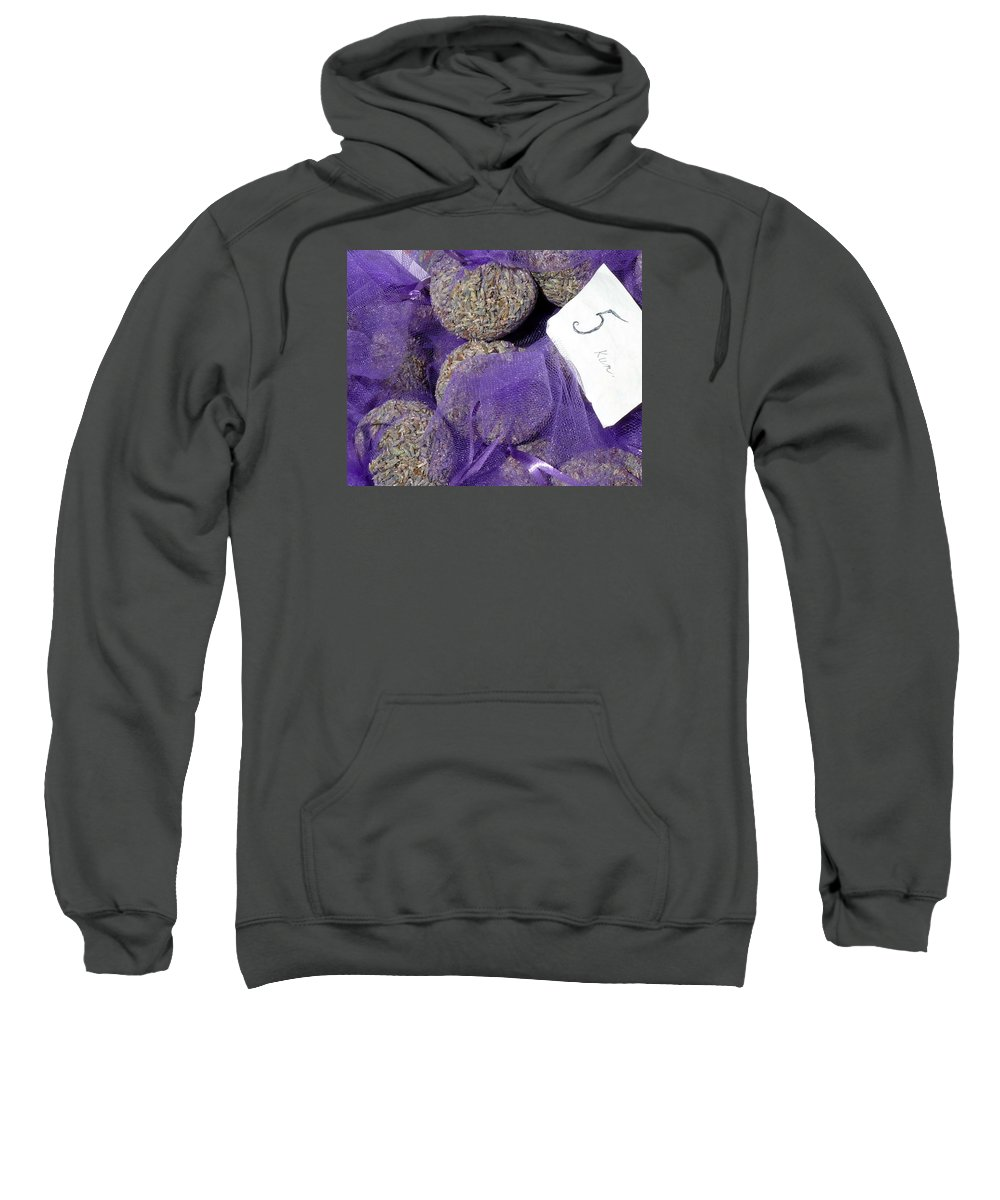 Lavender Sweatshirt featuring the photograph Dalmatian Lavender by Carla Parris