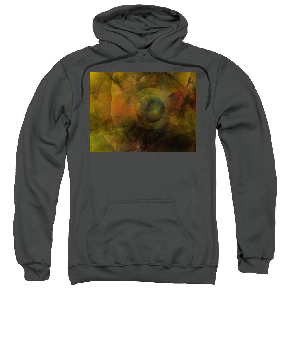 Fantasy Sweatshirt featuring the digital art Dance Of The Spheres by David Lane