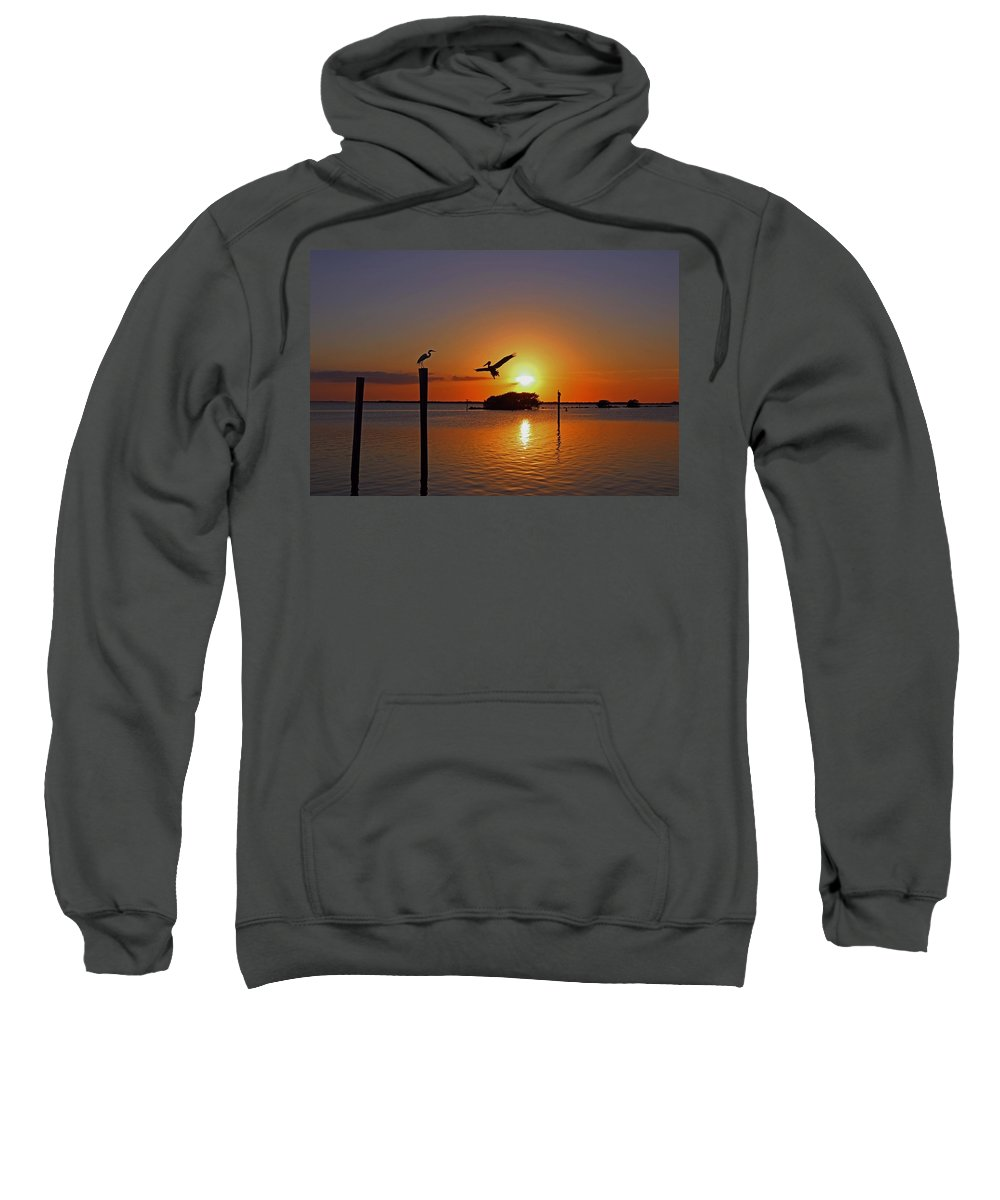 Sunset Sweatshirt featuring the photograph Dancing By Firelight by Michiale Schneider
