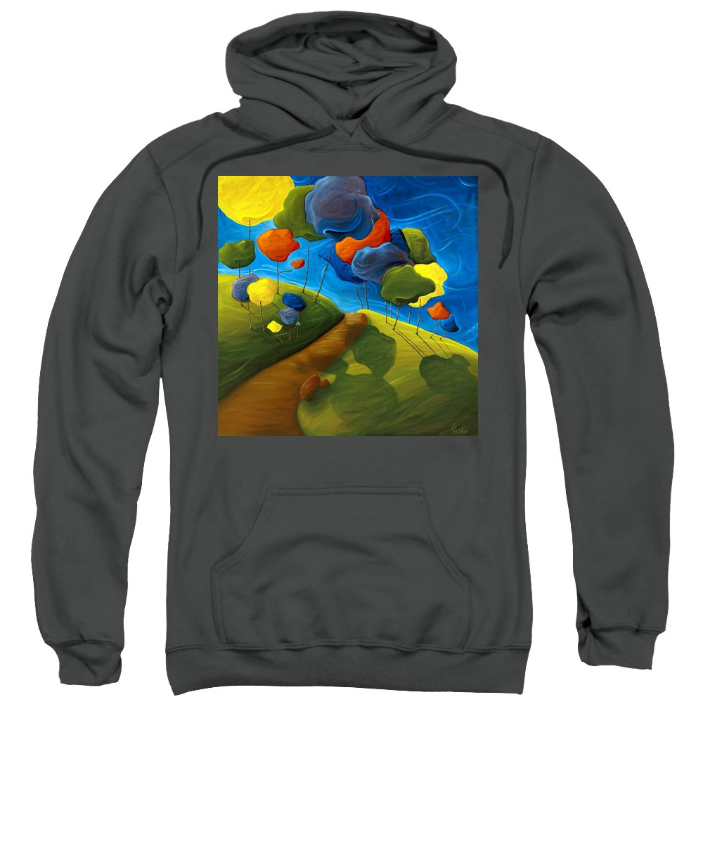 Landscape Sweatshirt featuring the painting Dancing Shadows by Richard Hoedl