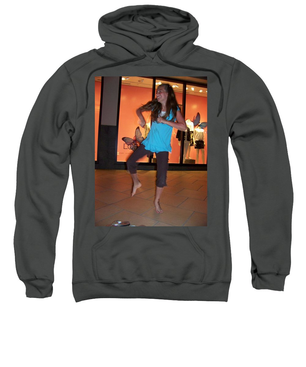Girl Sweatshirt featuring the photograph Dancing Young Girl by Laurie Paci