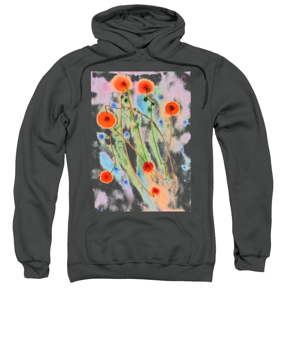 Dandelion Sweatshirt featuring the painting dandelion. 18 May, 2015 by Tatiana Chernyavskaya