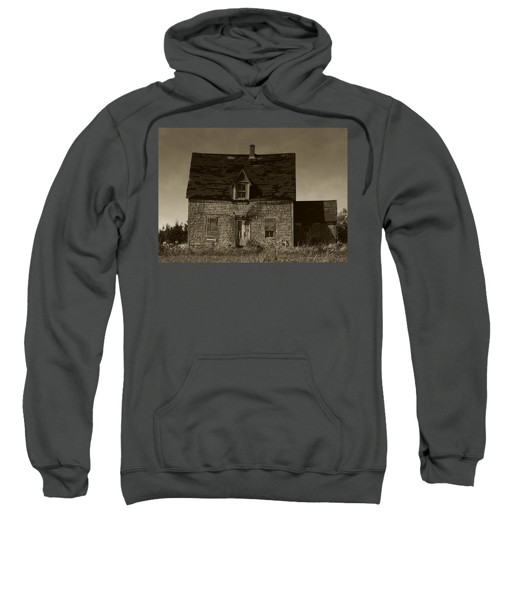Old House Sweatshirt featuring the photograph Dark Day On Lonely Street by RC DeWinter