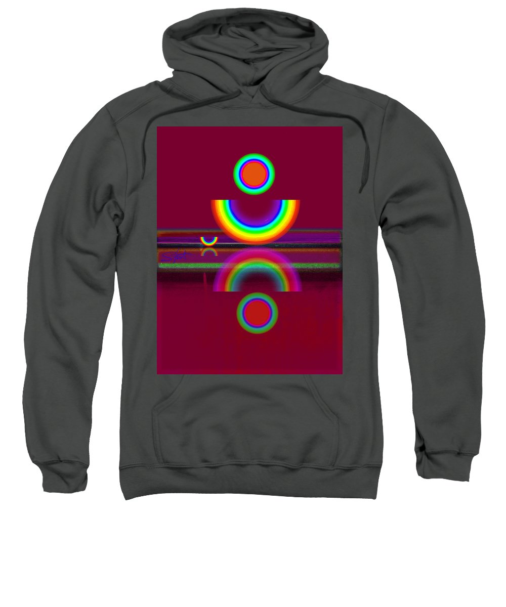 Reflections Sweatshirt featuring the painting Dark Heat by Charles Stuart