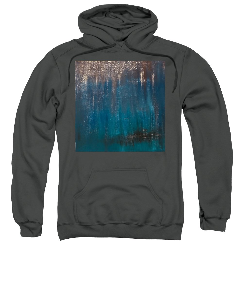 Dark Blue Sweatshirt featuring the painting Dark Night by Janice Harris