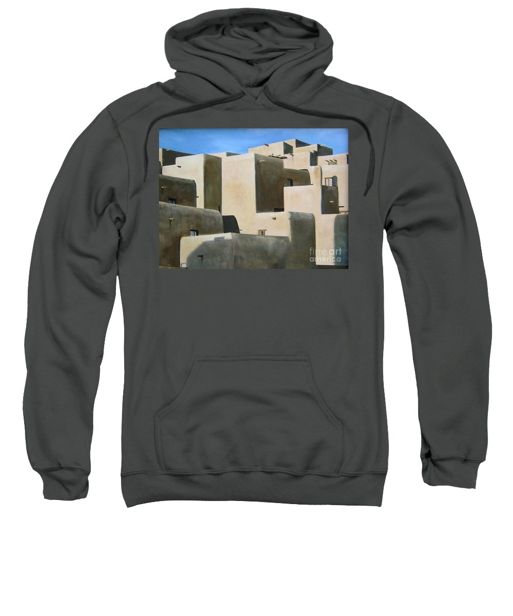Art Sweatshirt featuring the painting Dark Shadows by Mary Rogers