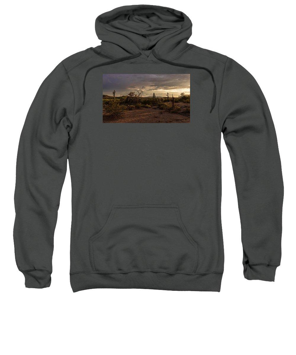 Arizona Sweatshirt featuring the photograph Dark Sunset by Ryan Seek