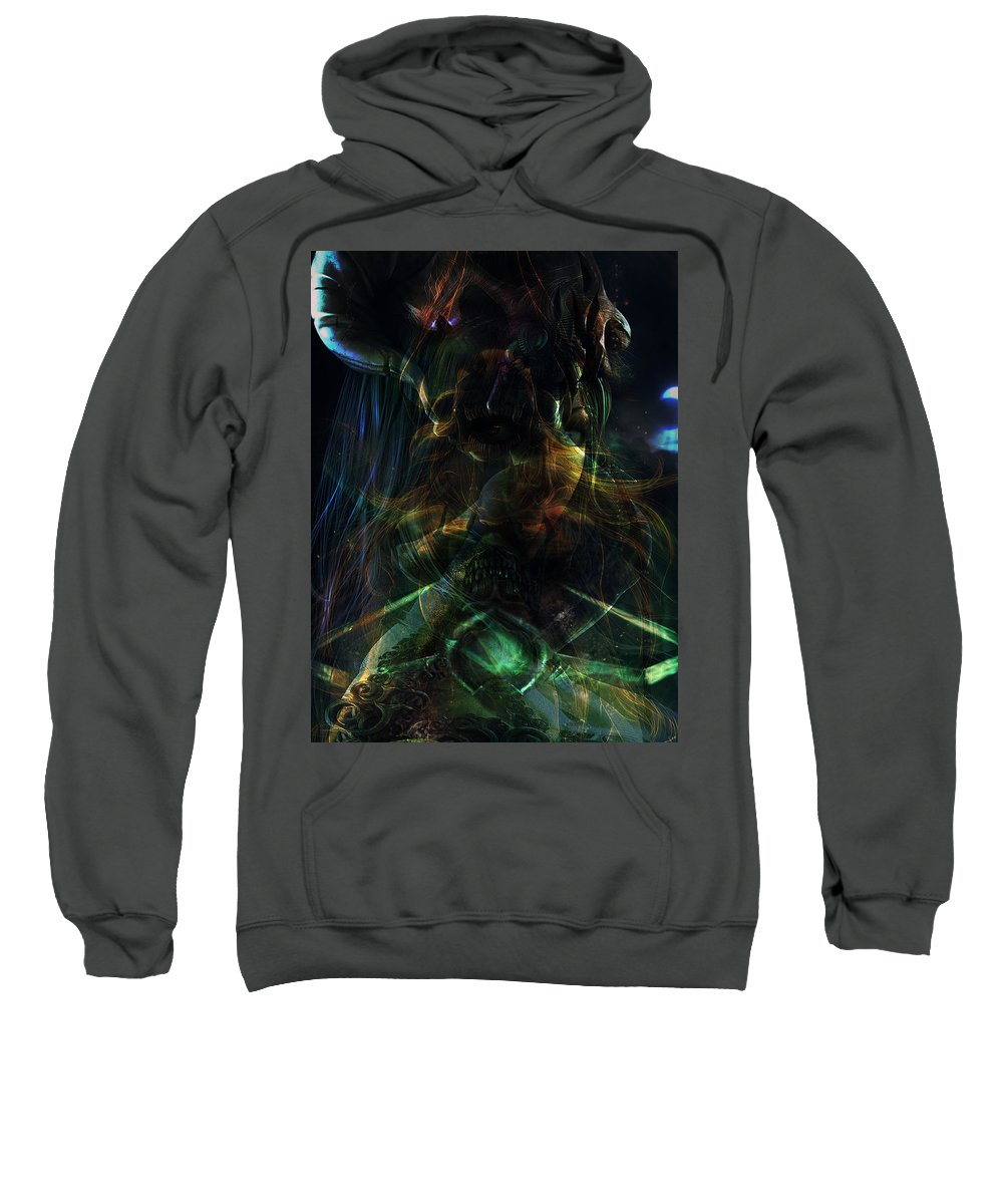 Darkness By Rifas Sweatshirt featuring the painting Darkness by Safir Rifas