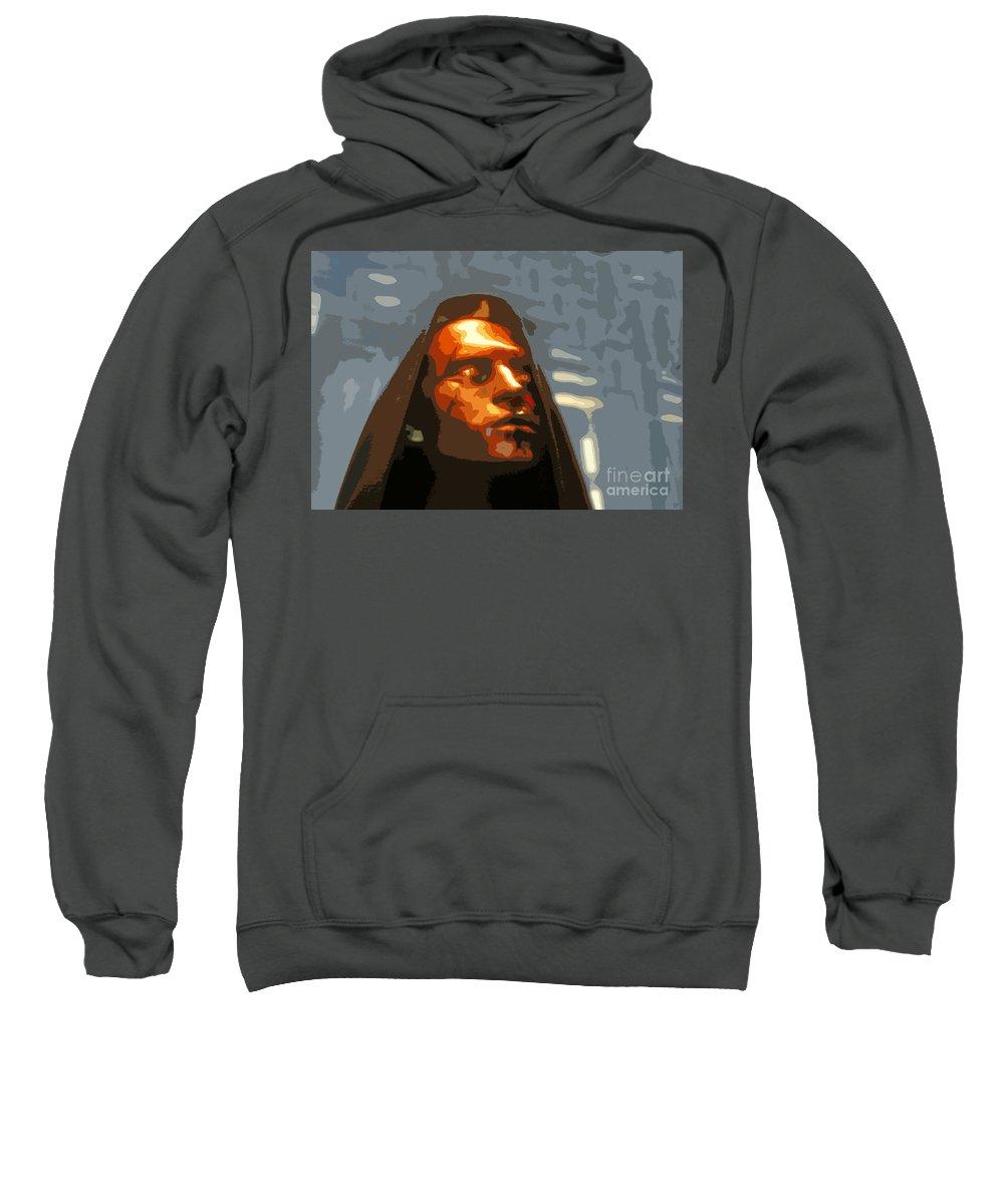 Darth Maul Sweatshirt featuring the painting Darth Maul by David Lee Thompson