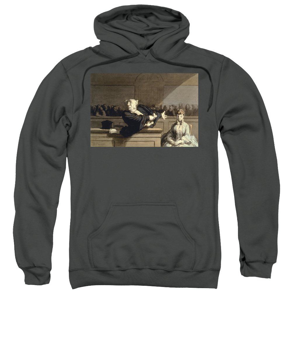 1860 Sweatshirt featuring the photograph Daumier: Advocate, 1860 by Granger