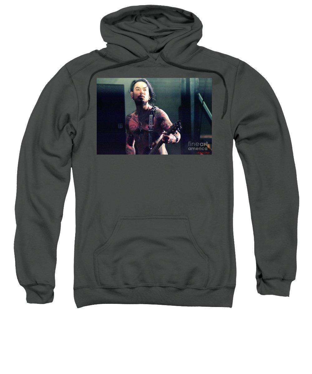 Janes Addiction Music Sweatshirt featuring the photograph Dave Navarro by Robert Scifo