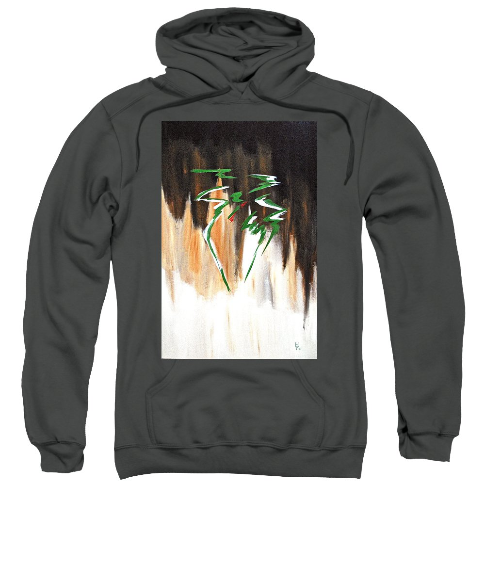 Abstract By Herschel Fall Sweatshirt featuring the painting Dawn Of An New Day by Herschel Fall