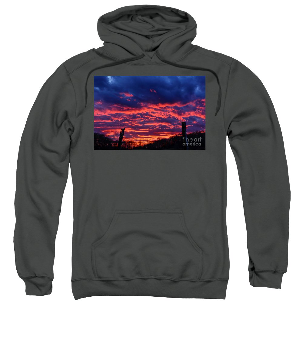 Sunrise Sweatshirt featuring the photograph Dawn On The Farm by Thomas R Fletcher