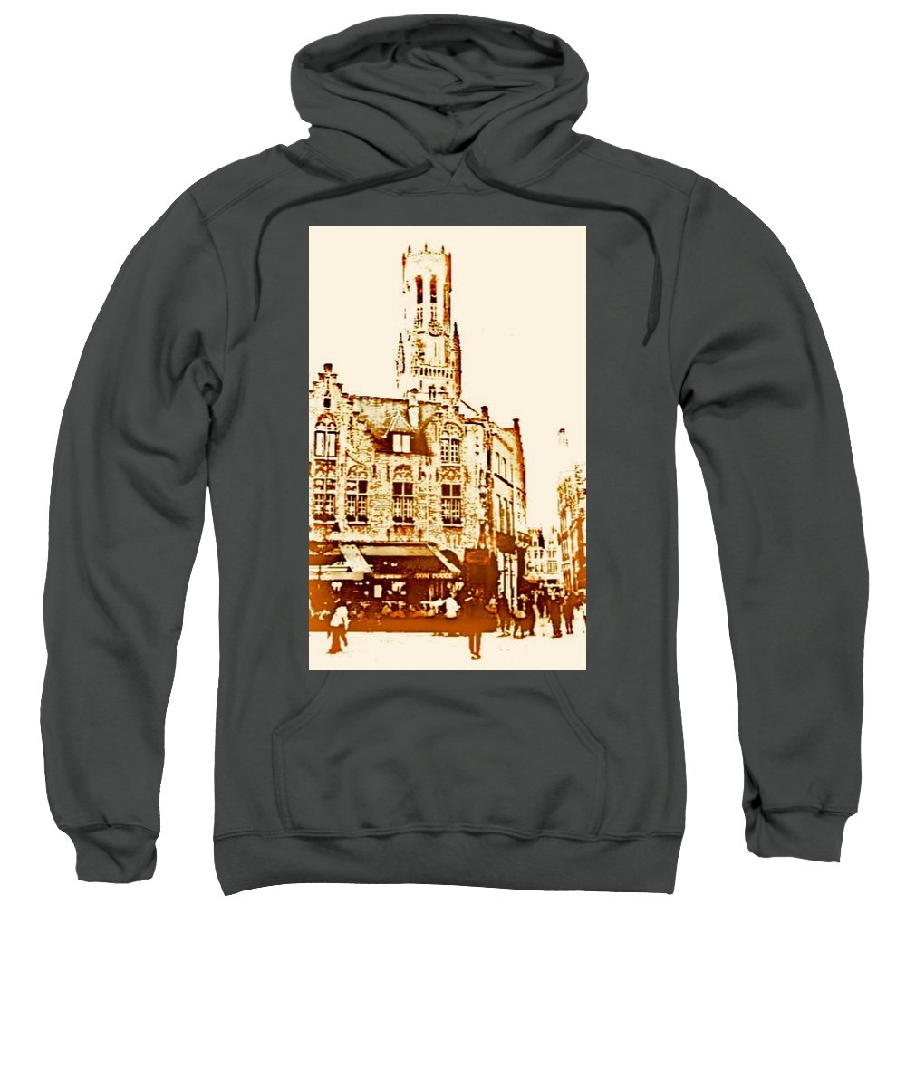 Bruges Sweatshirt featuring the digital art Days Of Old by Jennifer Longman
