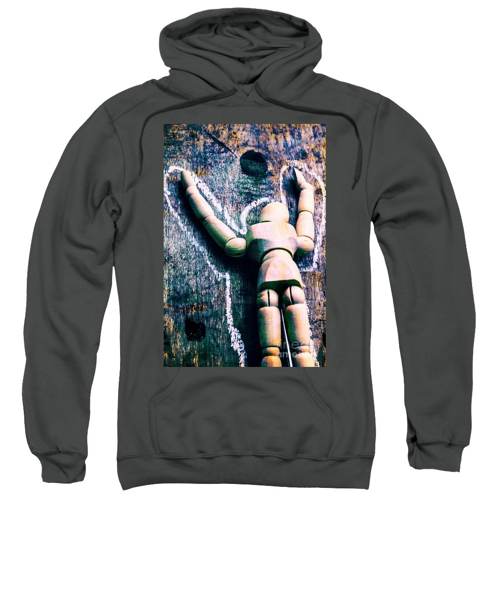 Investigation Sweatshirt featuring the photograph Death Of Art by Jorgo Photography - Wall Art Gallery