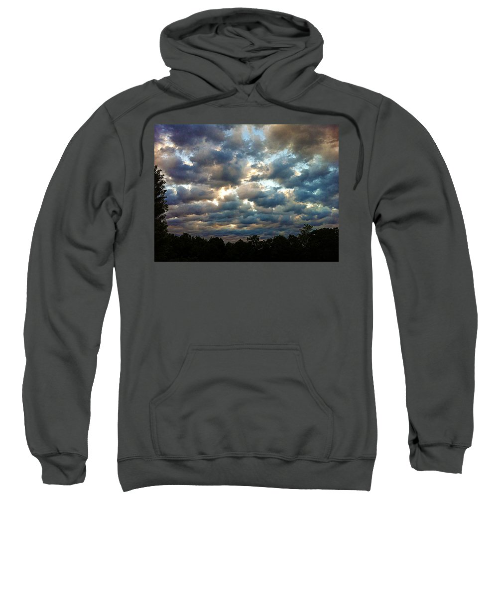 Clouds Sweatshirt featuring the photograph Deceptive Clouds by Cricket Hackmann