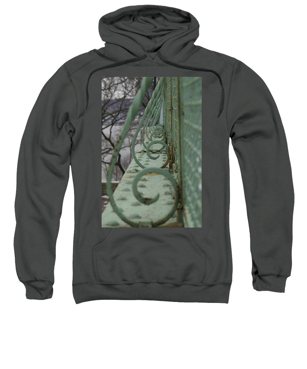 Metal Sweatshirt featuring the photograph Decorative Foot Bridge by Henri Irizarri