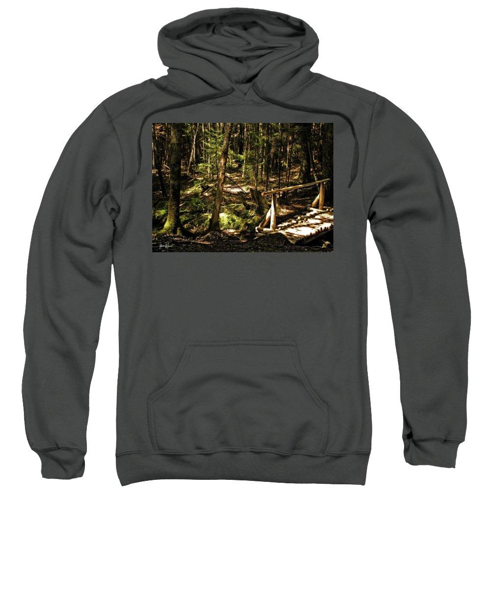 Landscape Sweatshirt featuring the photograph Deep Woods Trail by Jim Turri