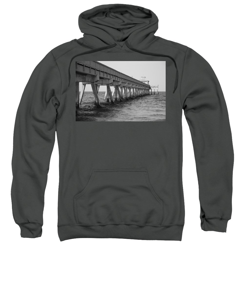 Architecture Sweatshirt featuring the photograph Deerfield Beach Pier by Rob Hans