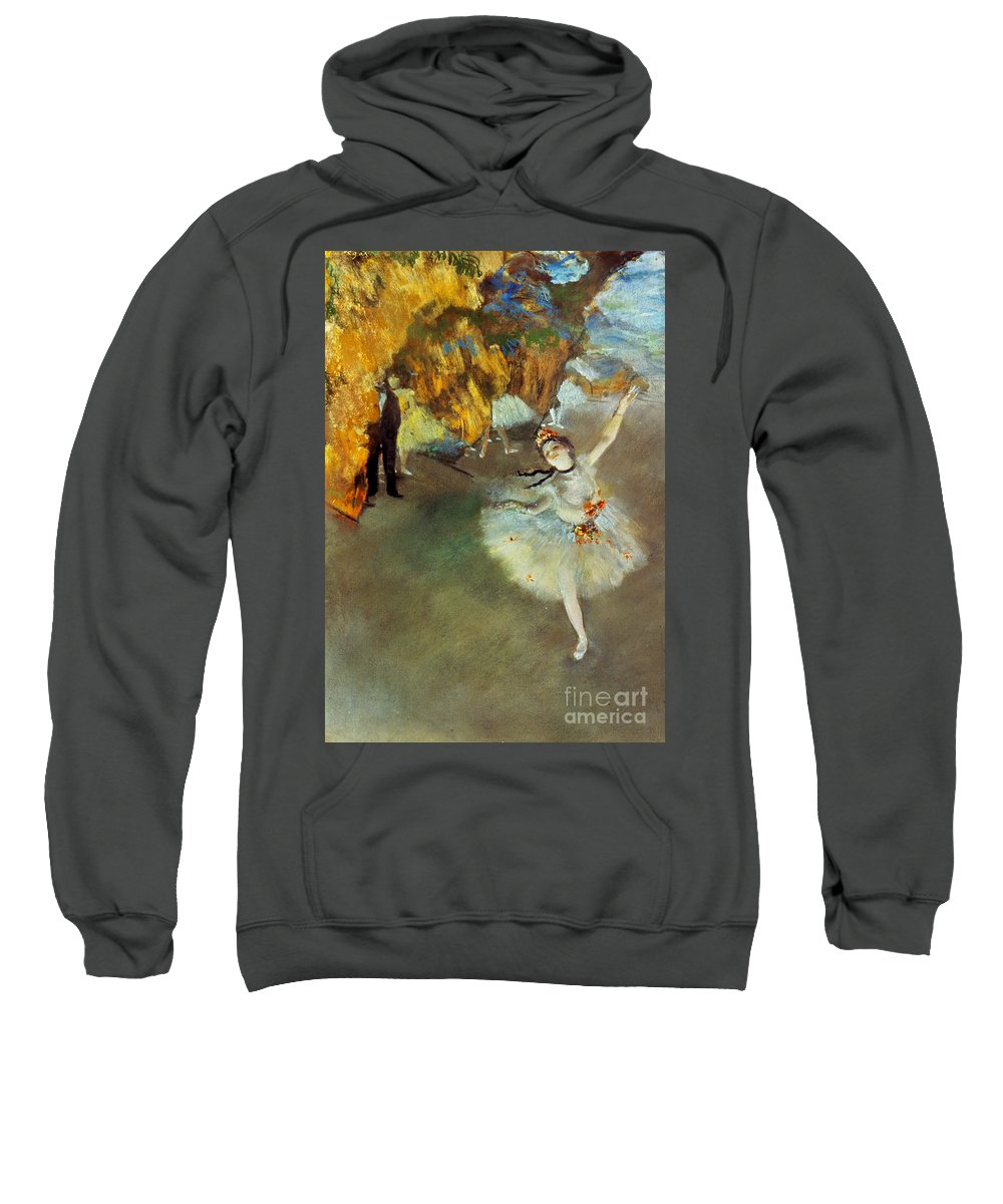 19th Century Sweatshirt featuring the photograph Degas Star, 1876-77. To License For Professional Use Visit Granger.com by Granger