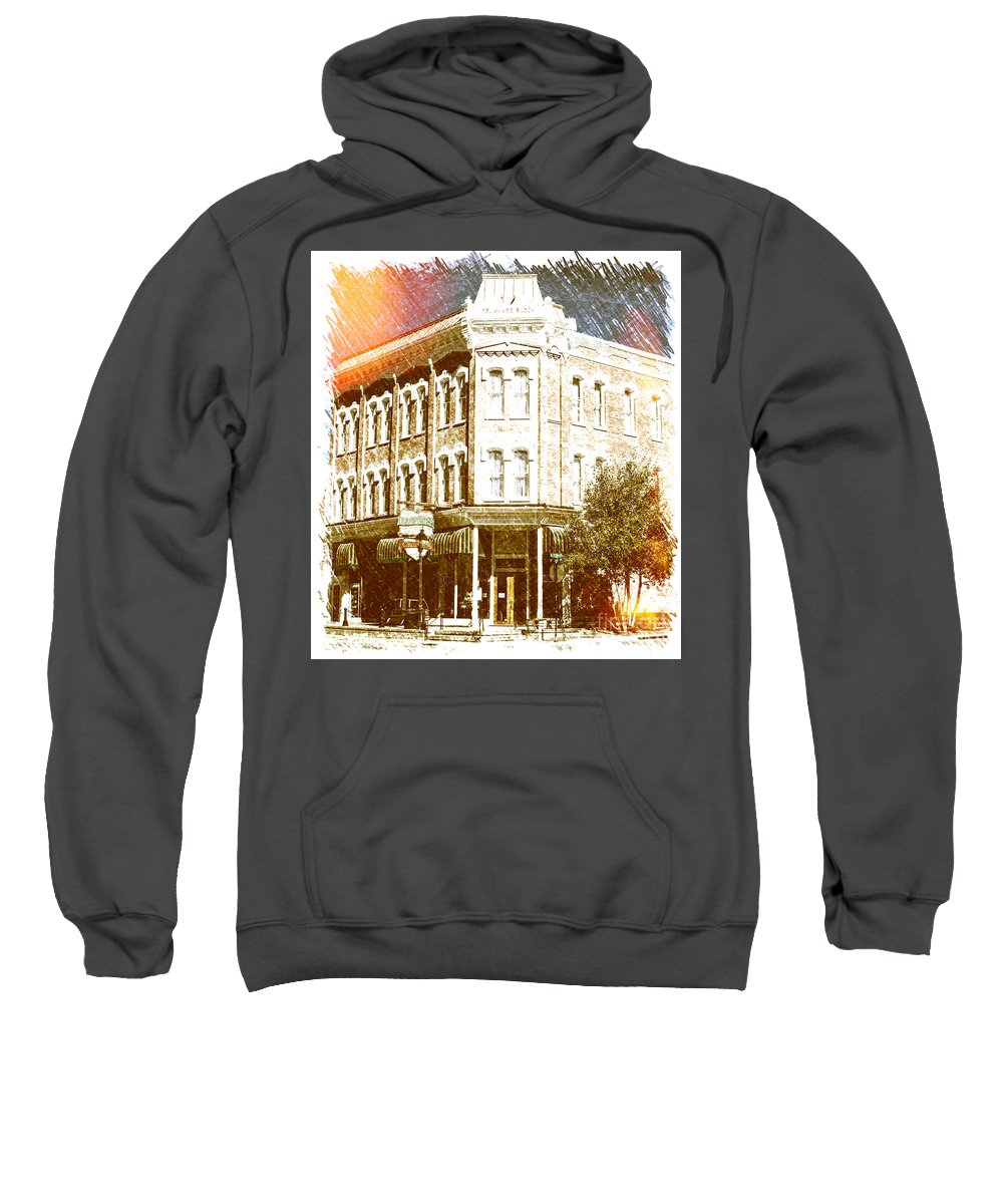 Hotel Sweatshirt featuring the photograph Delaware Hotel by Steven Parker