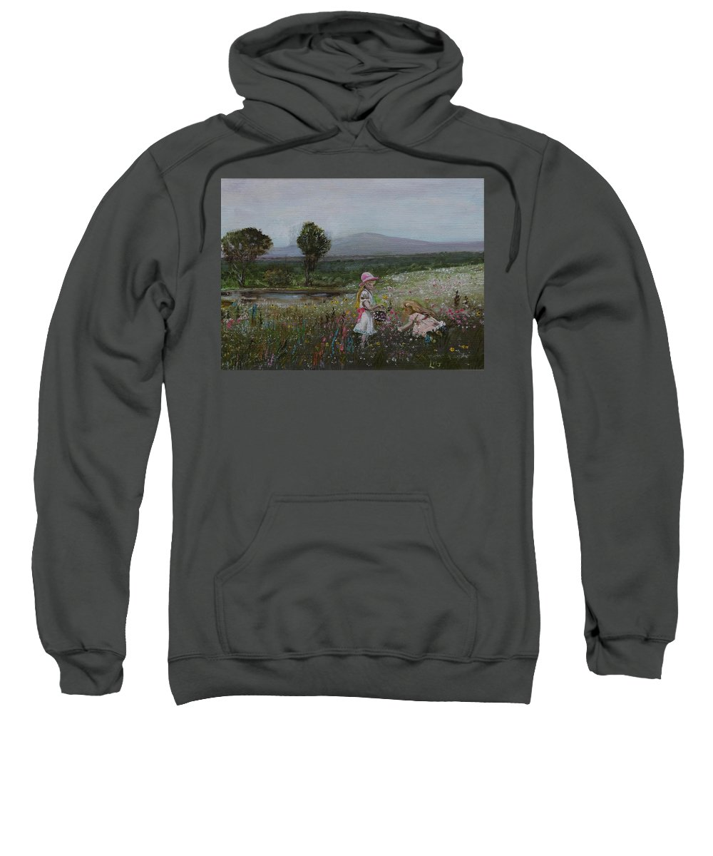 Impressionist Sweatshirt featuring the painting Delights Of Spring - Lmj by Ruth Kamenev