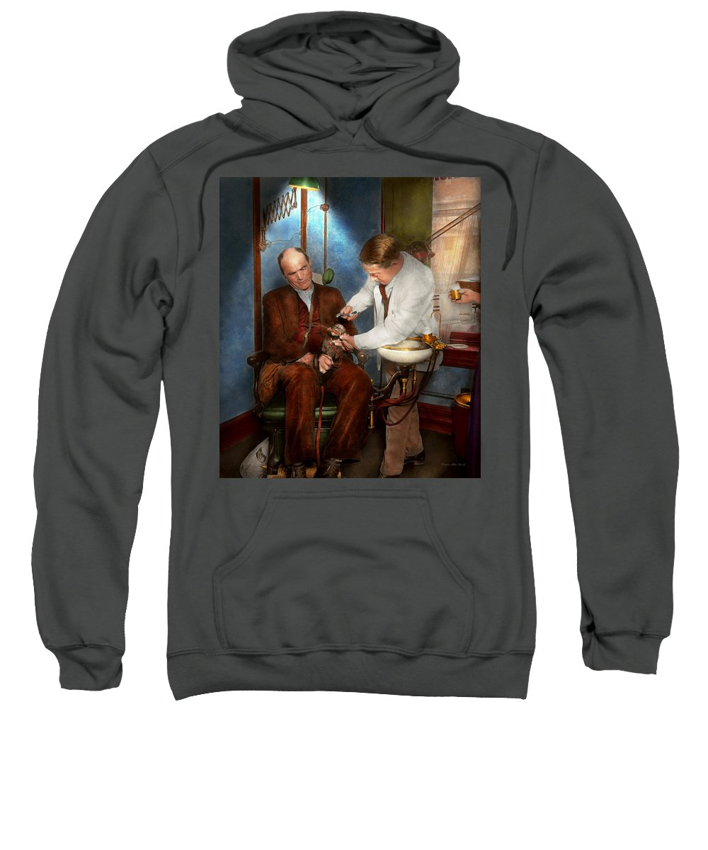 Dentist Sweatshirt featuring the photograph Dentist - Monkey Business 1924 by Mike Savad
