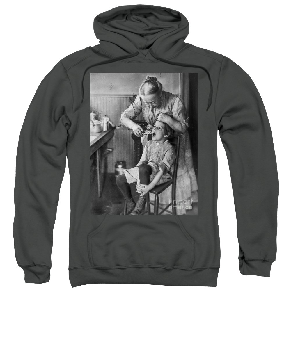 1920s Sweatshirt featuring the photograph Dentistry, 1920s - To License For Professional Use Visit Granger.com by Granger