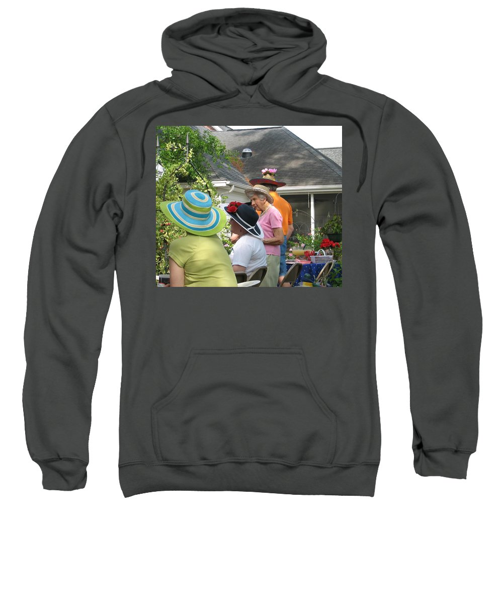 Hat Sweatshirt featuring the photograph Derby Party by Kelly Mezzapelle